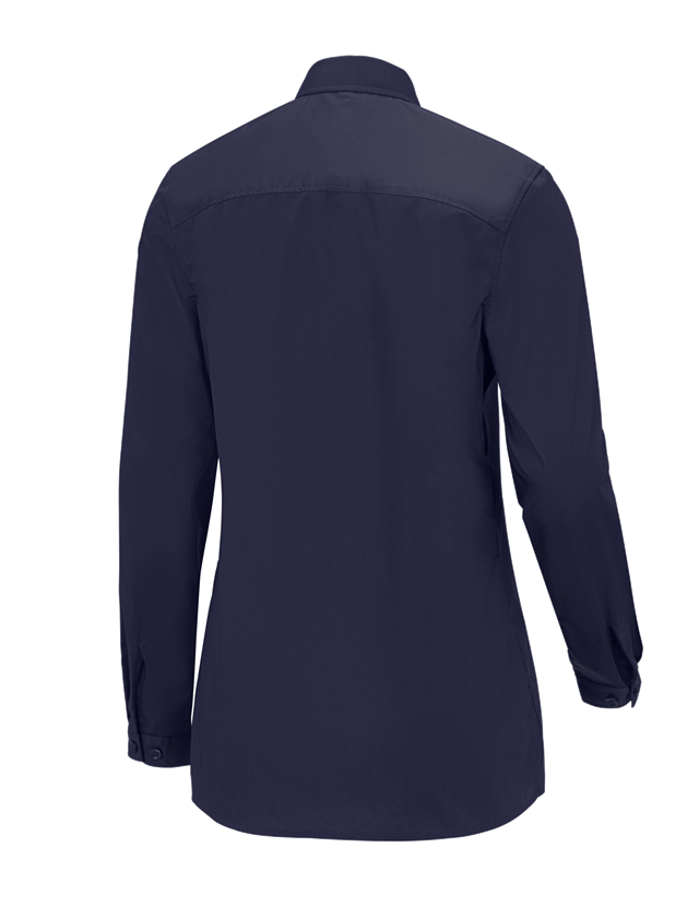 Shirts, Pullover & more: e.s. Service blouse long sleeved + navy 1