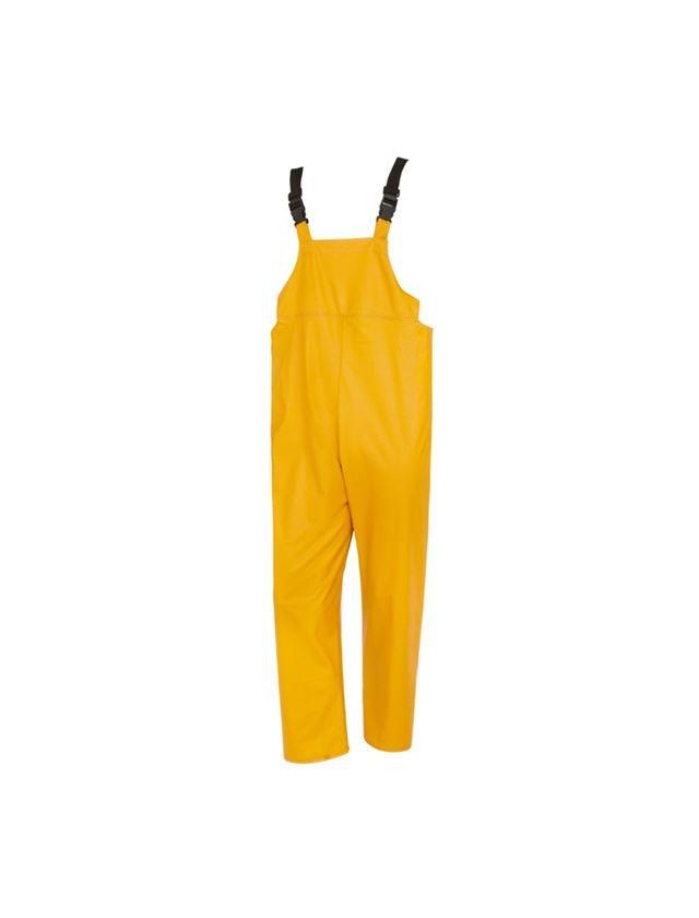 Work Trousers: Flexi-Stretch bib and brace + yellow