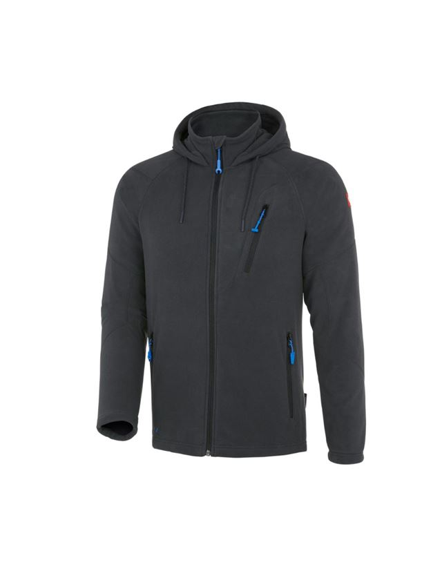 Work Jackets: Hooded fleece jacket e.s. motion 2020 + graphite