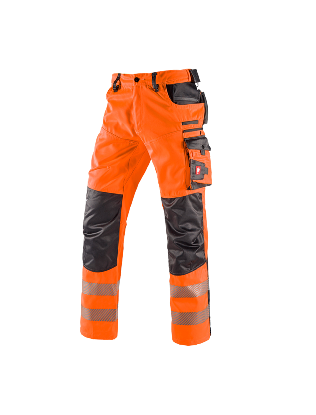 Work Trousers: High-vis trousers e.s.motion + high-vis orange/anthracite
