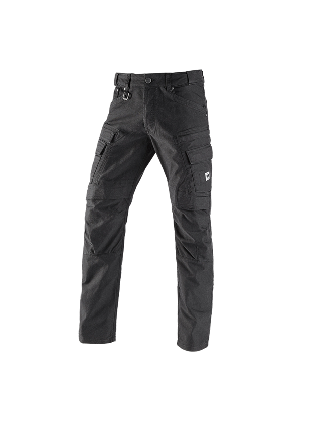 Work Trousers: Worker cargo trousers e.s.vintage + black