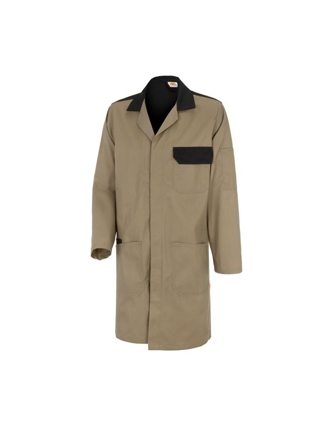 Healthcare |  Work Coats: STONEKIT Work Coat Odense + khaki/black