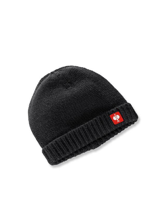Accessories: Knitted cap e.s.roughtough + black