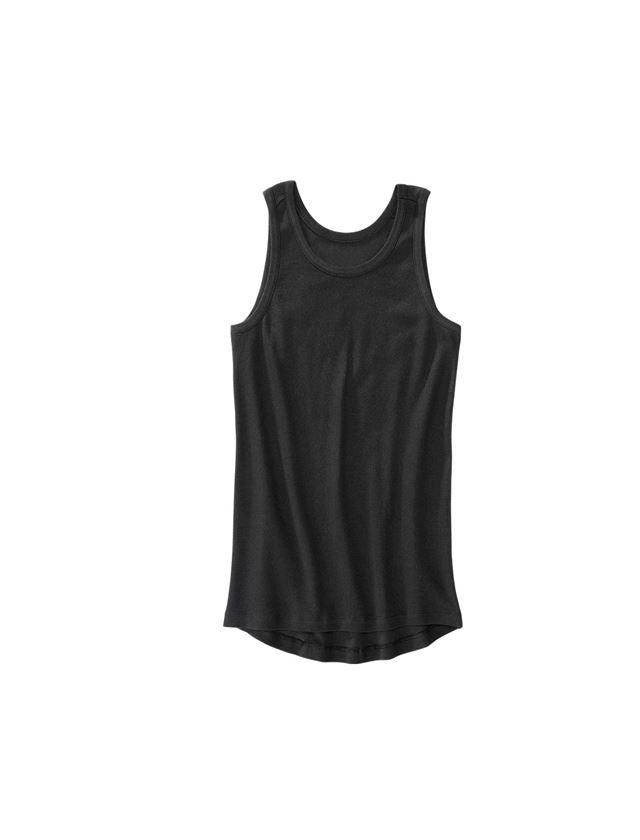 Underwear   Functional Underwear: e.s. Cotton rib tank shirt + black
