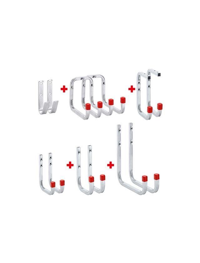 Tools & Equipment: Wall hook set, 12-part