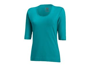 e.s. Shirt 3/4 sleeve cotton stretch, ladies'