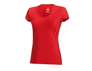 e.s. T-shirt cotton stretch, ladies'