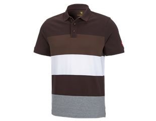 e.s. Pique-Polo cotton stripe