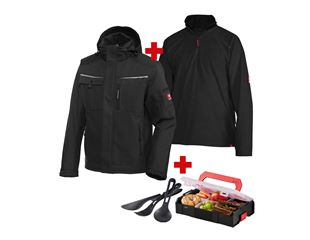 SET:Softshell jacket e.s.motion + Troyer