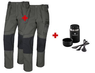 SET:2x trousers e.s.roughtough