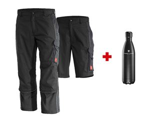 Trousers e.s.active + Shorts + drinking bottle