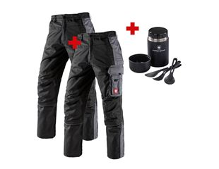 Set: 2x Trousers e.s.active