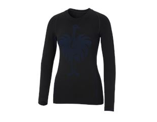 e.s. functional-longsleeve seamless-warm, ladies'