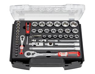 e.s. Socket wrench set pro 1/4+1/2 in i-Boxx72