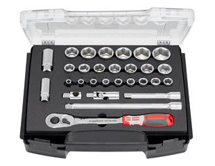 e.s. Socket wrench set pro 1/2 in e.s. i-Boxx 72