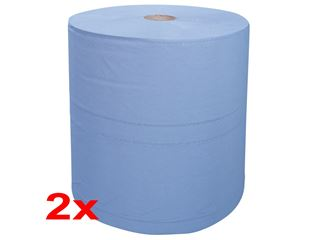 Industrial cleaning paper on rolls, pack of 2