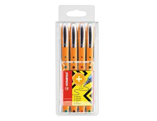 Stabilo Bionic Worker Liquid Ink Pen, Pack of 4