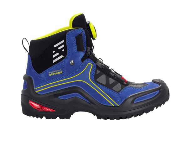 e.s. O2 Work boots Miram mid blue/yellow