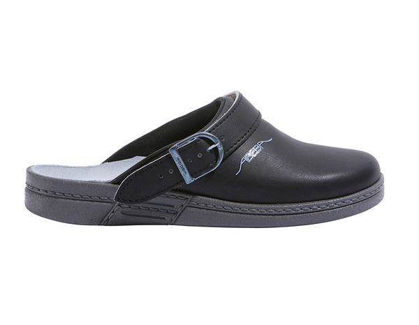 Work Clogs / Slip-ons OB: ABEBA OB Ladies' and men's clogs Tonga + black