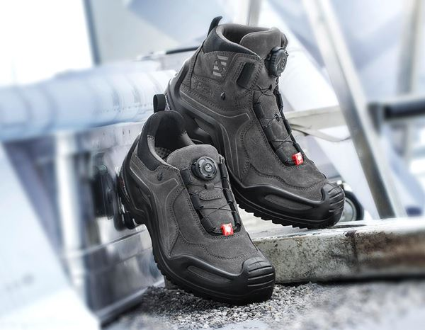 O2: e.s. O2 Work shoes Apate low + anthracite/black 1