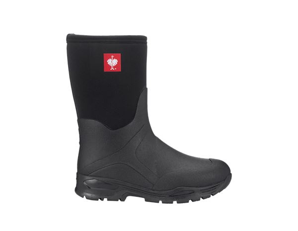 Wellingtons O4: e.s. O4 neoprene special work boots Fides mid + black