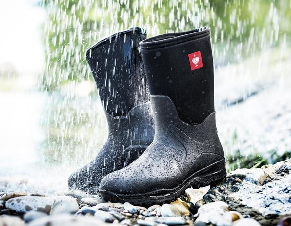 Wellingtons O4: e.s. O4 neoprene special work boots Fides mid + black 3