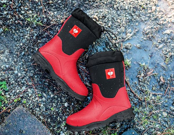 Kids Shoes: e.s. Allround boots Fides high, children's + fiery red/black 4