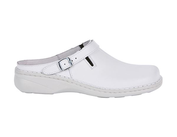 Work Clogs / Slip-ons OB: ABEBA OB Ladies' comfort clogs Nicole + white