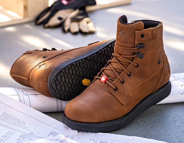 Work Shoes O2: e.s. O2 Work shoes Segamo mid + cognac 1