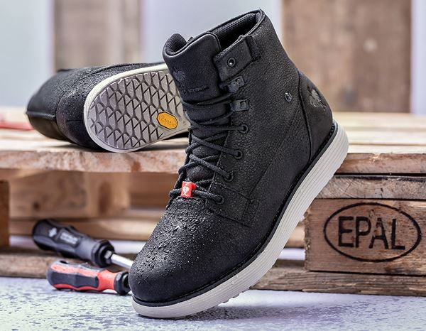 O2: e.s. O2 Work shoes Segamo mid + black 1