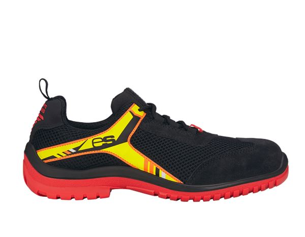 e.s. S1P Safety shoes Naos black/red/yellow