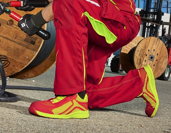 Safety Shoes S1: e.s. S1 Safety shoes Tegmen II low + fiery red/high-vis yellow 2