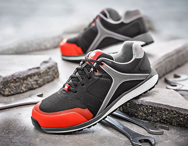 Safety Shoes S1: e.s. S1 Safety shoes Erebos + oxidblack/redorange 1