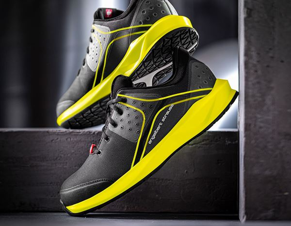 S1: e.s. S1 Safety shoes Hades + black/high-vis yellow 1