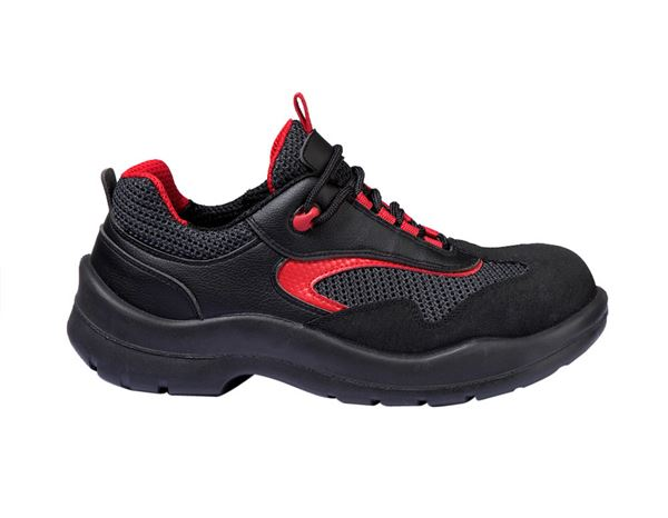 Safety Shoes S1P: S1P Safety shoes Comfort12 + black/red