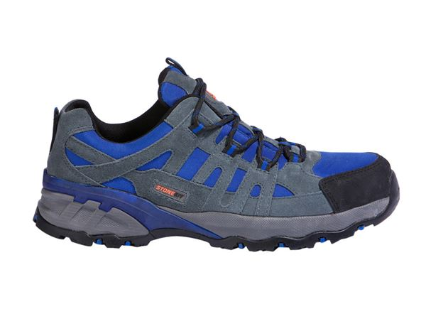 Safety Shoes S1P: STONEKIT S1P Safety shoes Ascona + grey/blue