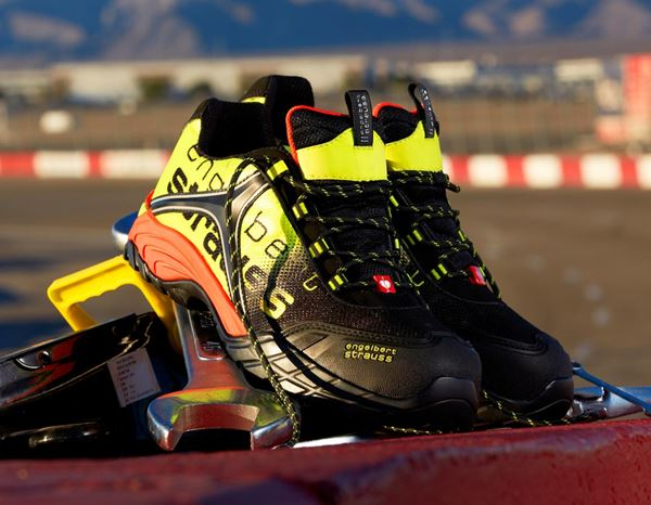 Safety Shoes S1: e.s. S1 Safety shoes Merak + black/high-vis yellow/high-vis orange 1