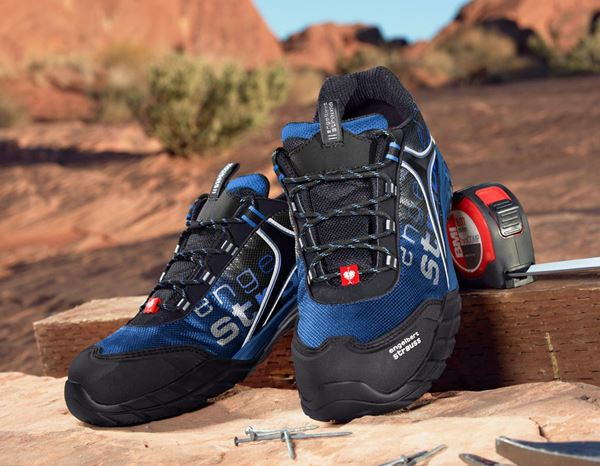 Safety Shoes S1: e.s. S1 Safety shoes Merak + graphite/gentian blue 1