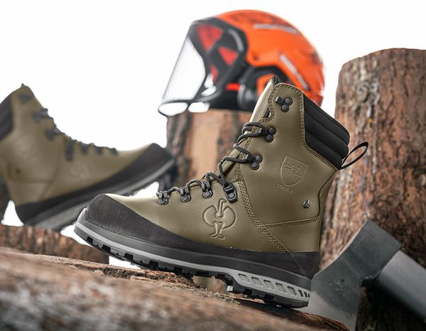 S2: e.s. S2 Forestry safety boots Triton + mudgreen 1