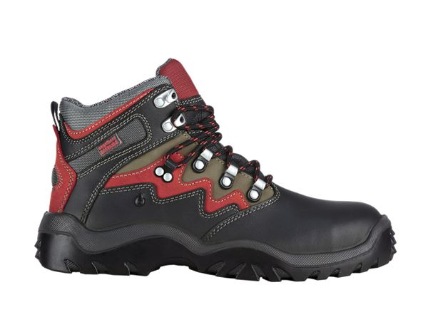 Safety Shoes S3: e.s. S3 Safety boots München + black/anthracite/red