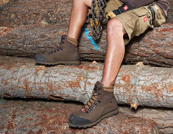 Safety Shoes S3: e.s. S3 Safety boots Alrakis mid + bark/walnut/atoll 4