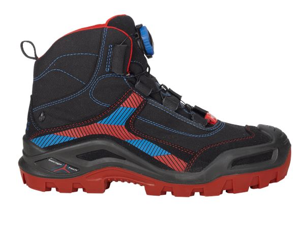 S3: e.s. S3 Safety boots Kastra mid + black/fiery red/gentian blue