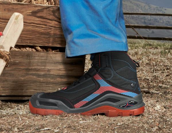 S3: e.s. S3 Safety boots Kastra mid + black/fiery red/gentian blue 1