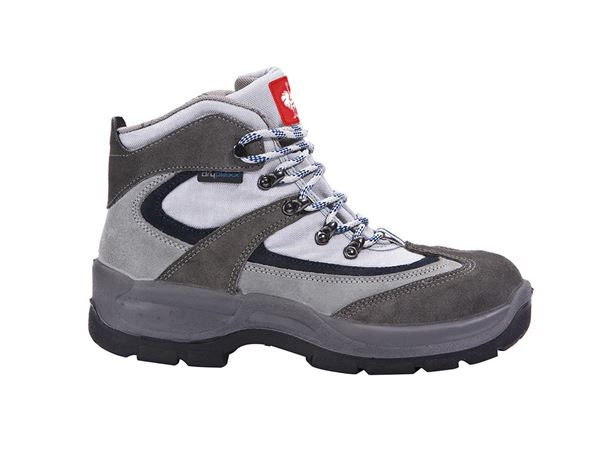 Safety Shoes S3: S3 Safety boots Würzburg + grey/navy blue