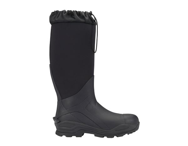 Safety Wellingtons S5: e.s. S5 Neoprene safety boots Kore x-high + graphite/black