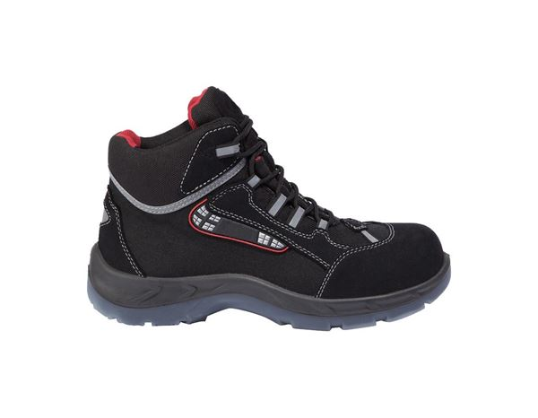 S3 Mikro Faser Safety boots Dario black/red