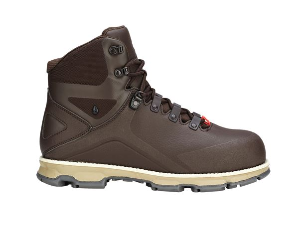 Safety Shoes S3: e.s. S3 Safety boots Nereus mid + chestnut/sand