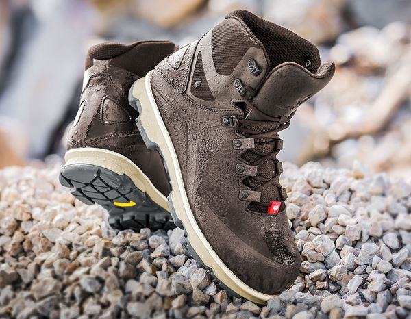 Safety Shoes S3: e.s. S3 Safety boots Nereus mid + chestnut/sand 1