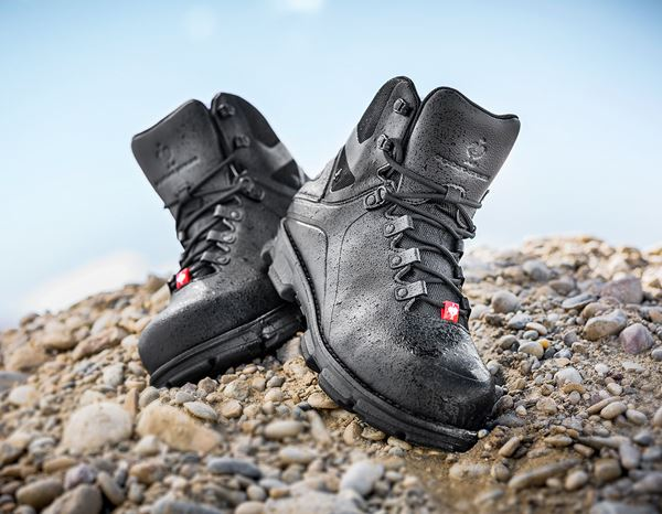 Safety Shoes S3: e.s. S3 Safety boots Nereus mid + black 4
