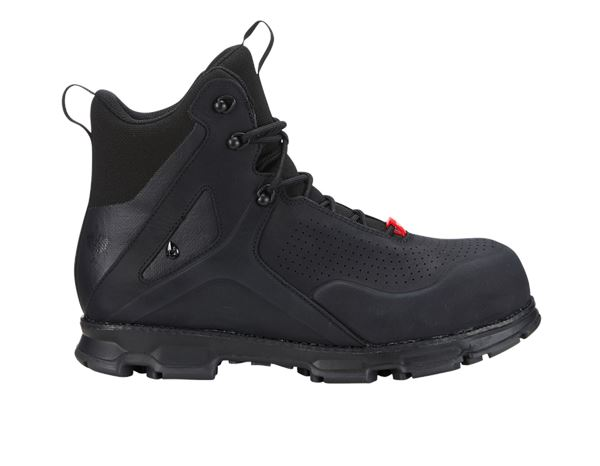 Safety Shoes S3: e.s. S3 Safety boots Barrex mid + black